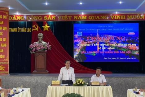 Tổng công ty HUD làm việc với lãnh đạo Tp. Bảo Lộc, Lâm Đồng về đầu tư, phát triển dự án mới