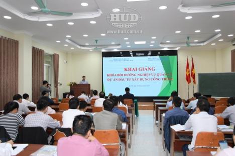 """Tổng công ty HUD phối hợp với Học viện cán bộ Quản lý xây dựng và đô thị tổ chức khóa học """"Bồi dưỡng quản lý dự án đầu tư"""" năm 2020"""