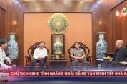 Chủ tịch UBND tỉnh Quảng Ngãi tiếp và làm việc với Tổng Giám đốc HUD
