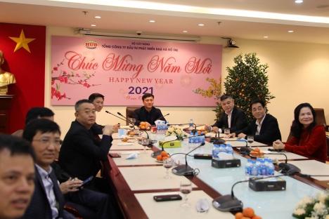 Tổng công ty HUD tổ chức găp mặt chúc Tết đầu năm Tân Sửu 2021 bằng hình thức trực tuyến