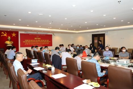 Cán bộ lãnh đạo Chủ chốt của HUD tham dự Hội nghị trực tuyến bồi dưỡng, cập nhật kiến thức do Đảng uỷ Khối DNTW tổ chức