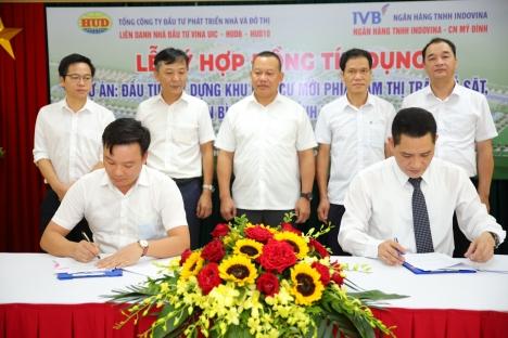 Liên danh VINA UIC – HUD6 – HUD10 và Ngân hàng IVB ký kết hợp đồng tín dụng triển khai Dự án Bình Giang, tỉnh Hải Dương
